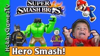 Super Smash Bros With Batman Joker Hulk+ HobbyPig by HobbyGamesTV