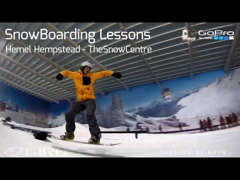 SnowBoarding Lessons @ HemelHempstead, The SnowCentre - GoPro Edition - (My 3rd trip Ever)