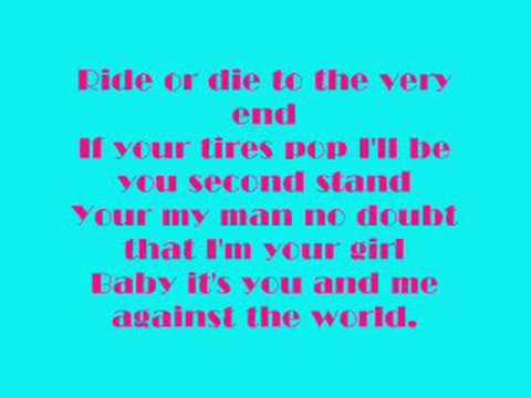 Me And You Against The World W  Lyrics video