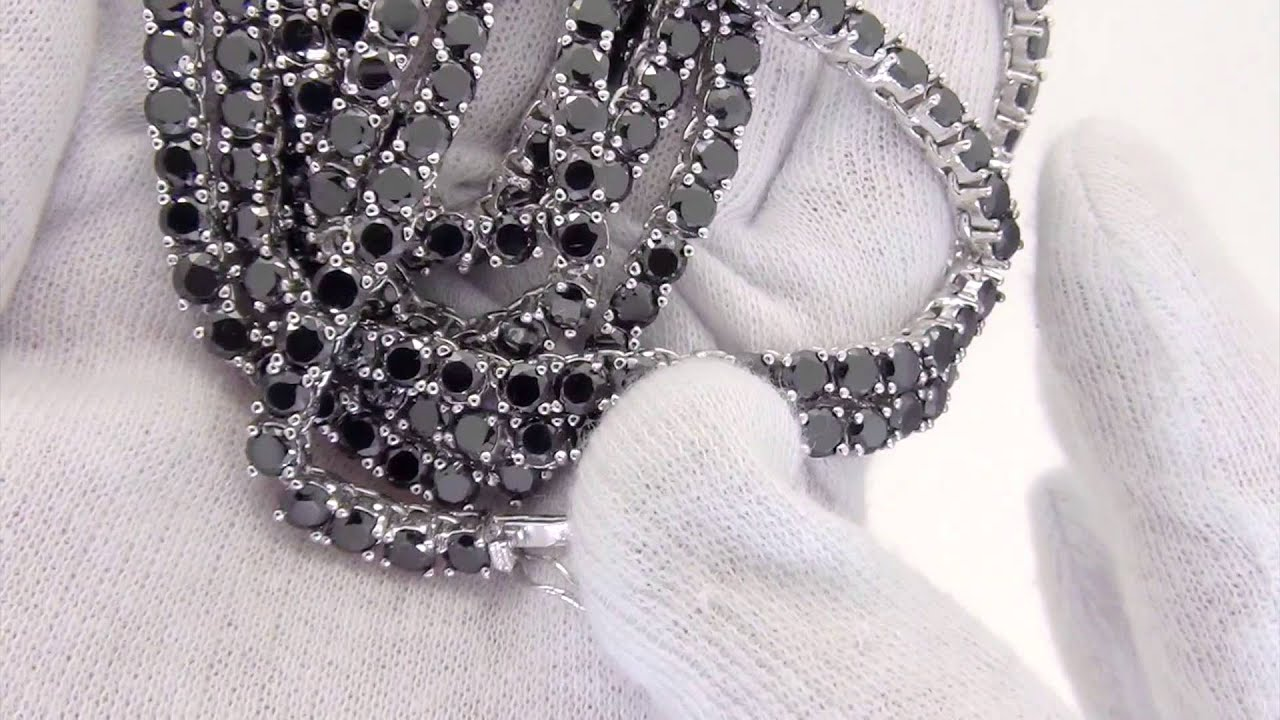 Black Lab Made Diamond Chain on Rhodium BLING