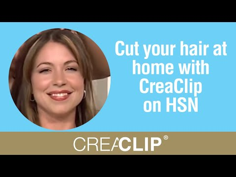 Cut your hair at home with CreaClip on HSN- Angled Bob. layers