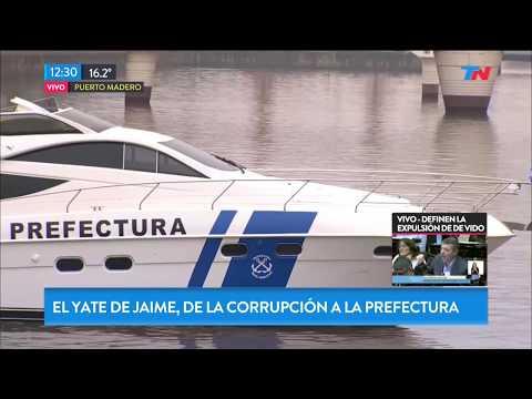 El yate de lujo de Ricardo Jaime, ahora al servicio de Prefectura