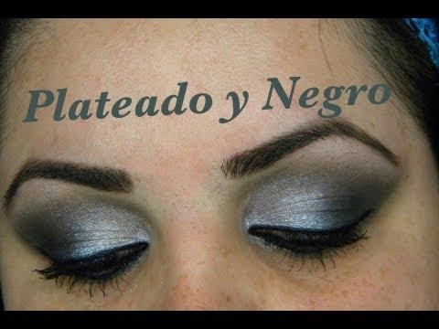 Maquillaje de ojos con plateado y negro youtube - Como pintarse los ojos de negro ...