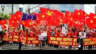 Cộng đồng người Việt tại Bỉ biểu tình phản đối Trung Quốc trước trụ sở Ủy ban Châu Âu