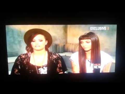 Demi Lovato + Christina Perri - E News Exclusive
