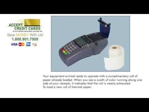 How to replace paper in the Verifone Vx510 credit card terminal
