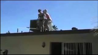 Teen girl breaks feet in roof jump   Yahoo!7 News Video