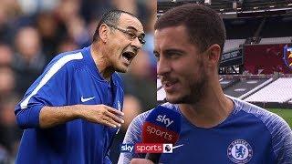 Eden Hazard says he feels 200% and is enjoying playing under Maurizio Sarri