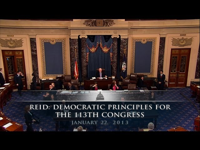 Reid: Democratic Principles For The 113th Congress