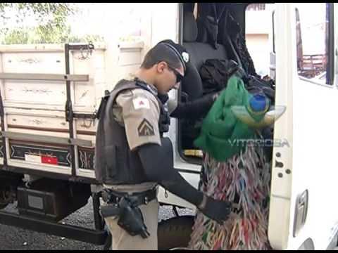 Caminhão roubado em São Paulo é encontrado no Tibery, em Uberlândia
