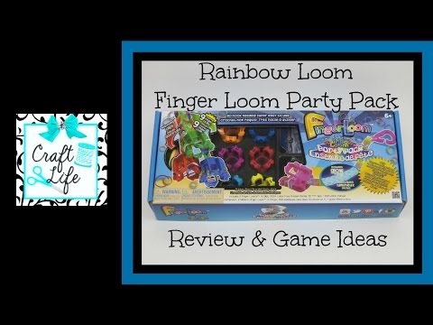 Craft Life Rainbow Loom Finger Loom Party Pack Review & Game Ideas