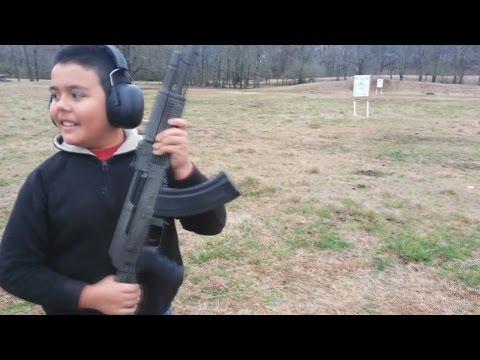 First Time Shooting An AK-47 | Sharp Shooter