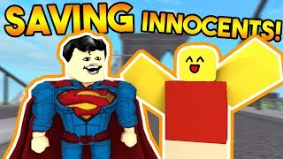 SAVING INNOCENTS! (BECOMING A SUPERHERO!) | ROBLOX: Super Power Training Simulator