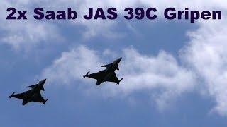 2x Saab JAS 39C Gripen, Airshow Chotebor 2017