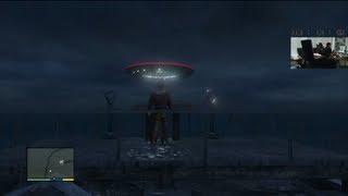 [GTA V] Grand Theft Auto 5 : Flying UFO Alien Ship Easter Egg