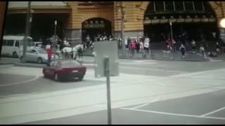 Melbourne car Bourke street