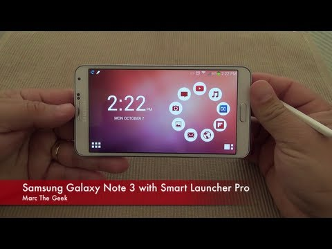 Samsung Galaxy Note 3 With Smart Launcher Pro video