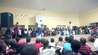 Sesfikile Nam boys performing at Niilo Taapopi Sss