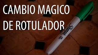 Cambia de color un rotulador MAGICAMENTE - Tutorial gratis