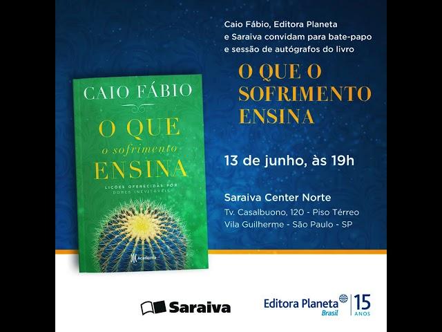 """Caio Fábio no Rio de Janeiro. 14/06 - Sessão de autógrafos do livro """"O que o sofrimento ensina!."""