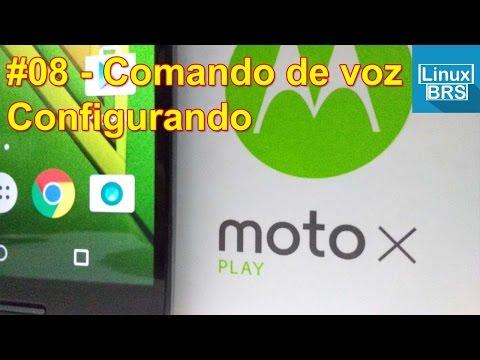 Moto X Play - Configurando e usando o comando de voz - Português