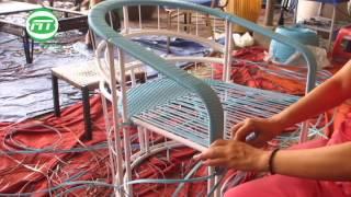 sản xuất bàn ghế nhựa giả mây cao cấp với khung sắt sơn tĩnh điện