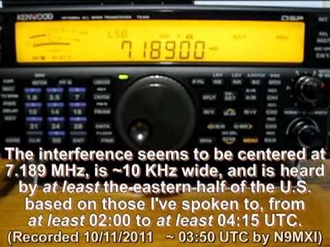 Interference on the 40m amateur radio band
