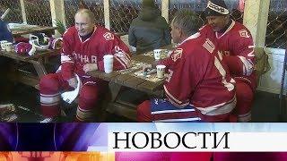 Особый матч Ночной хоккейной лиги состоялся у стен Кремля.