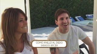 Nico Vázquez puso en aprietos a Messi y Antonella Roccuzzo en Como anillo al dedo
