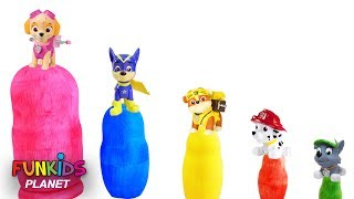 Learning Colors Videos For Kids: Paw Patrol Skye & Chase Nesting Eggs Stacking Cups Educational