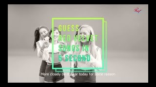 [ReVeluv Challenge]  Can You Guess Red Velvet Songs in 5 Second?