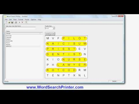 Word Search Maker - How to create word search puzzles