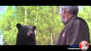 Man hits Bear Thug Life