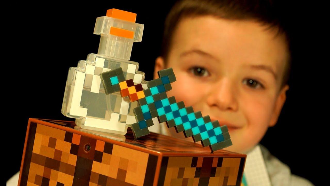 Minecraft Crafting Table by Mattel - Diamond Sword. KIDS Videos by KokaTube - YouTube