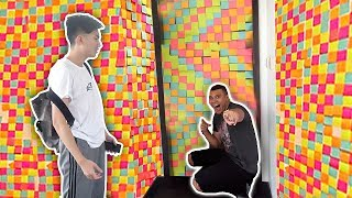 CRAZY STICKY NOTE ROOM PRANK ON RICEGUM!! (MY ROOMATE)