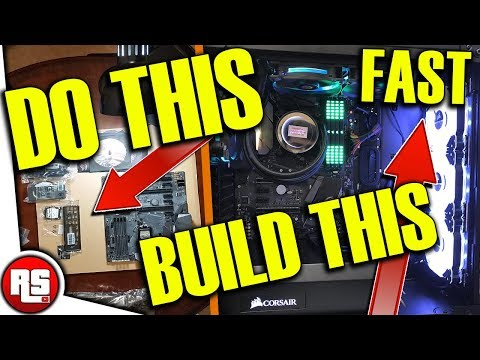 HOW TO BUILD A GAMING PC! (2017) , Build a computer FAST, Kaby Lake gaming pc, i7 7700k , gtx