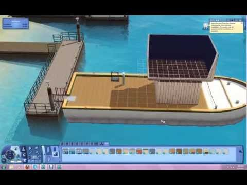 Building a House Boat in Island Paradise Sims3