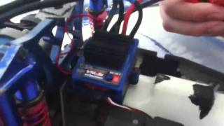 My Glowing Red Smoking Traxxas VXL 3s ESC