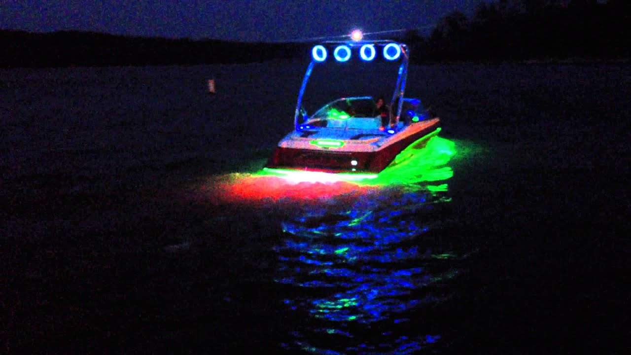 legit led fully custom boat in rgb youtube. Black Bedroom Furniture Sets. Home Design Ideas