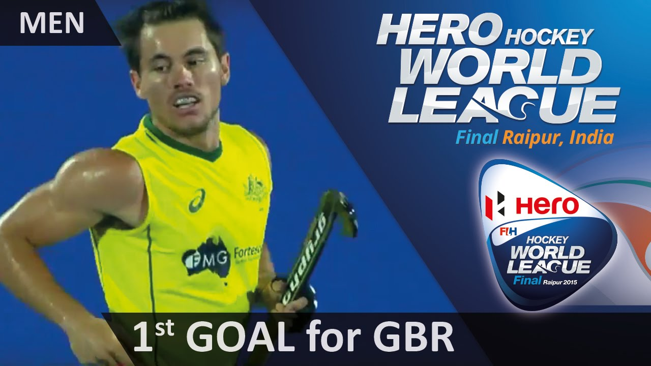 AUS 1-2 GBR Jeremy Hayward gets one back with a dragflick #HWL2015 #Raipur