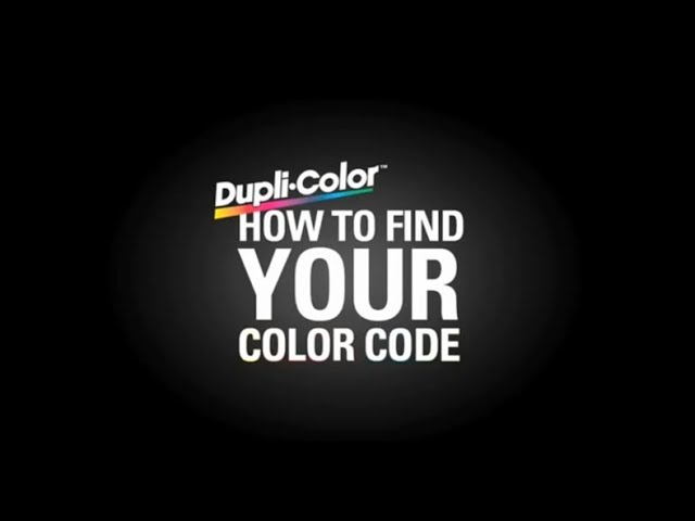 Dupli-Color Find Your Color Code: Hyundai - YouTube