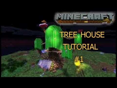 Minecraft Adventure Time Tree House Tutorial #1