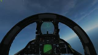 DCS F14 dogfight with Su27 AI
