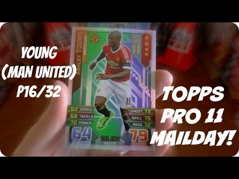 YOUNG (P16) 🏆 PRO 11 MAILDAY 🏆 Topps MATCH ATTAX PREMIER LEAGUE 2015-16 Trading Cards