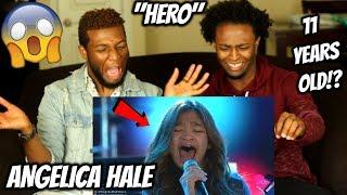 """Angelica Hale - 11 Year-Old Sings """"Hero"""" by Mariah Carey (REACTION)"""