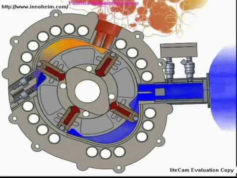 Motor Rotary Engine 2D animation fuel saving New
