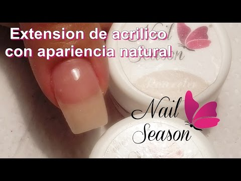Principiantes uñas acrilicas esculturales extension natural tutorial paso a paso