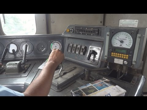 [IRFCA] Indian Railways Alco WDM3D Loco Cab Ride at 110 KMPH, Loco Pilot Operating the Loco