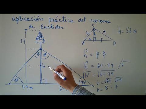 Aplicación práctica Teorema de Euclides
