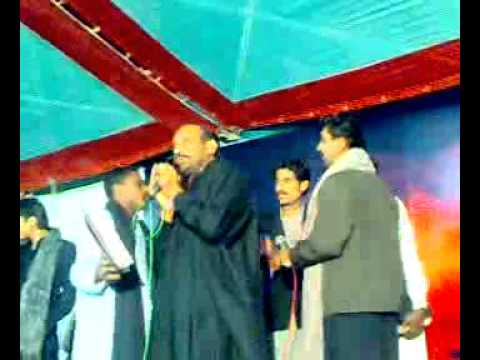 Mukhtiar Ali Sheedi Noha At Village Mihon Khan Rind Nawab Shah 22 Moharam 2010 2011 video